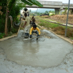 Cement road project
