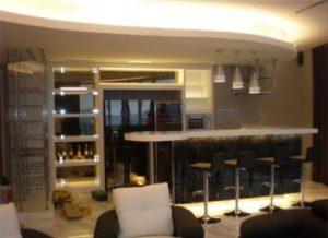 condominium bar counter house renovation