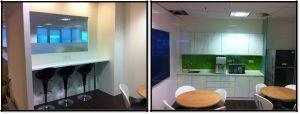 Office renovation pantry