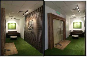 Office renovation entrance